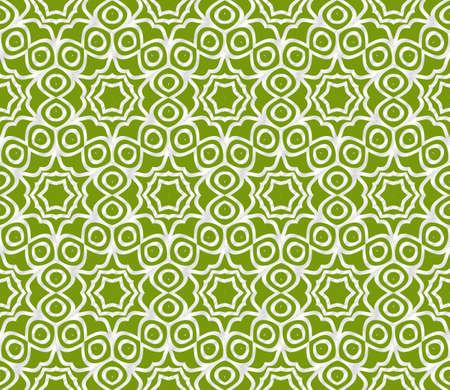 Decorative floral ornament modern pattern. for interior design, textile, wallpaper. seamless vector illustration. Green, silver color