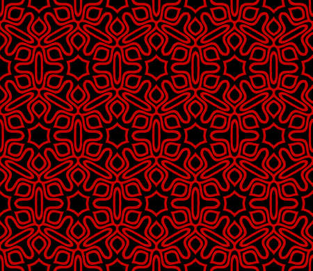 Seamless retro style geometric pattern. Vector illustration. For design, wallpaper, background. red, balck color.