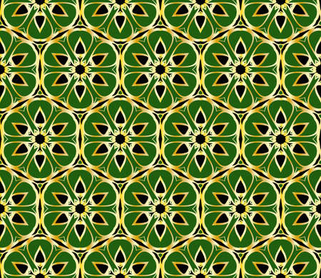 Nahtloses abstraktes Blumenmuster. Art-DecoBackground. Vektorillustration. für Tapete, Einladung, Stoff Textil.