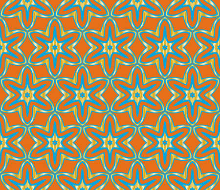 Vector Ornamental Seamless Line Pattern. Endless Texture. Floral Ornament. For the interior design, printing, web and textile.