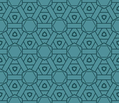 Art-deco pattern. Seamless. Vector illustration. For invitation background, wallpaper. Ilustração