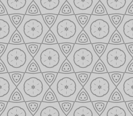 Seamless texture of floral ornament. Modern geometric pattern. For scrapbooking, background, interior. Vector illustration. Ilustração