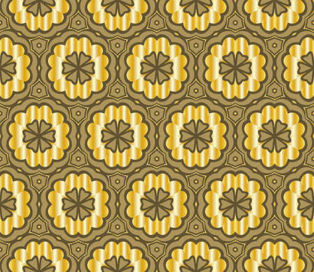 Seamless texture of floral ornament. Vector illustration. For the interior design, printing, web and textile.