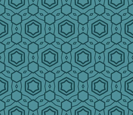 Seamless texture of geometric ornament. Vector illustration. For the interior design, printing, web and textile. Ilustração