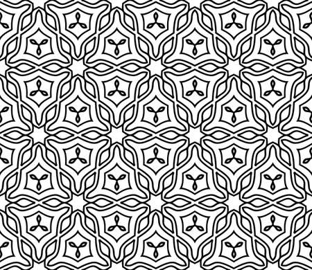Abstract Vector seamless pattern with geometric style. Repeating sample figure and line. For modern interiors design, wallpaper, textile industry. White and black