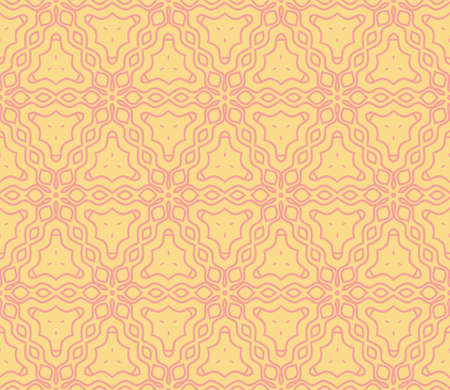 Pattern of abstract geometric flowers. Seamless vector illustration. for design greeting cards, backgrounds, wallpaper, interior design. Beige color Illustration