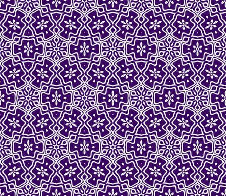 geometric ornament. seamless art-deco pattern. Color vector illustration. for design, wallpaper, invitation. Purple, silver color Vektorové ilustrace