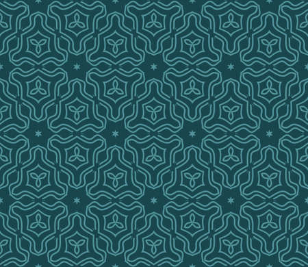 Vector floral Seamless Line Pattern. Geometric Ornament. For the interior design, printing, web and textile