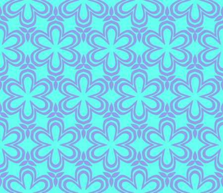 Seamless texture of floral ornament. Vector illustration. For the interior design, printing, web and textile. Blue color