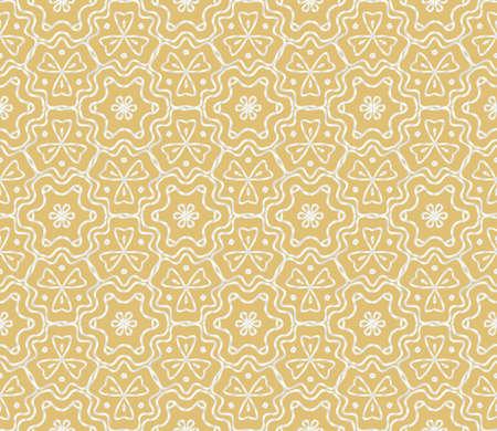 Geometric Florel Pattern. Vector illustration. For fabric, textile, scarg, super print Stock Illustratie