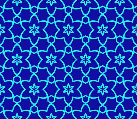 Vector Ornamental Seamless Line Pattern. Endless Texture. Geometric Ornament. For the interior design, printing, web and textile. Stock Illustratie