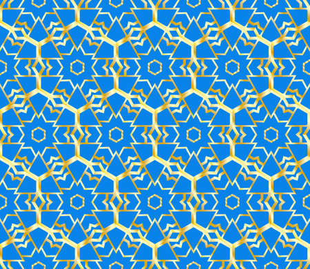 Seamless texture of geometric ornament. Vector illustration. For the interior design, printing, web and textile.  イラスト・ベクター素材