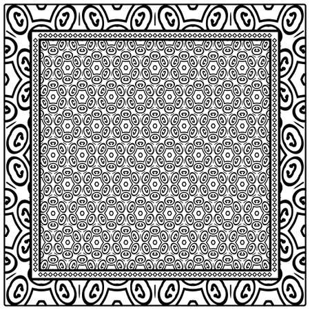 Design of a Geometric Flower Pattern. vector. For Print Bandana, Shawl, Carpet.