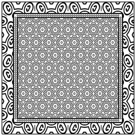 Design of a Geometric Flower Pattern. vector. For Print Bandana, Shawl, Carpet.