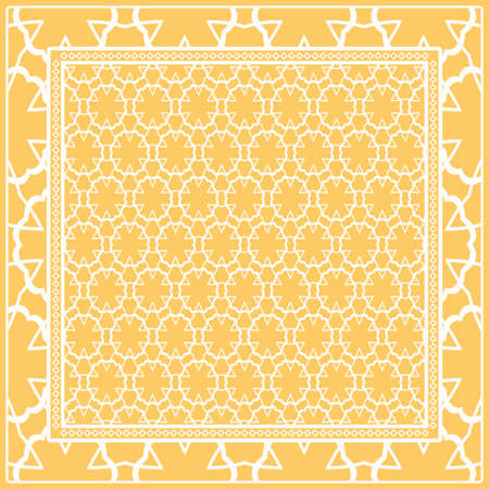 Design of a Geometric Flower Pattern. vector.