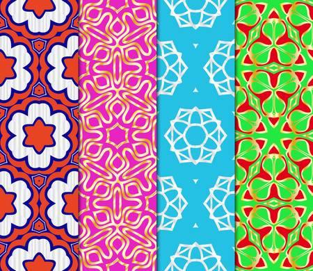 Set of Beautiful geometric ornament. seamless art-deco pattern. vector illustration. for design, wallpaper, invitation