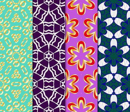 Set of Art deco pattern of geometric elements. seamless pattern. Vector illustration. design for printing, presentation, line texture for wallpaper, packaging, banners