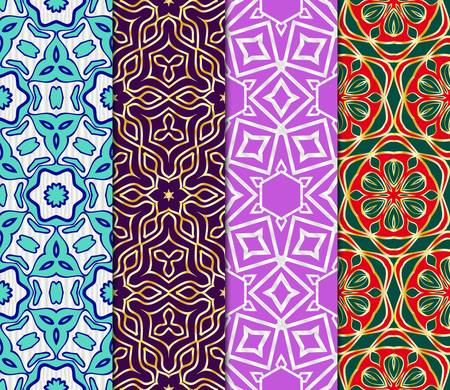 Set of Decorative wallpaper for interior design. line texture for wallpaper, packaging, banners, textile fashion fabric print, invitation cards. Seamless vector illustration.