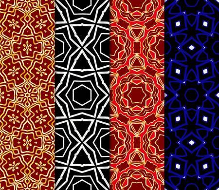 Set of Art deco pattern of geometric elements. seamless pattern. Vector illustration. design for printing, presentation, textile industry. tribal ethnic arabic, fashion decorative ornament.