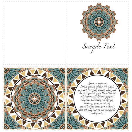 Hand painted texture background for invitation card. Wedding, postcards and business card templates. Vector illustration. The front and rear side