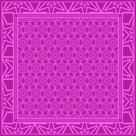 Floral Geometric Pattern. vector illustration. For fabric, textile, bandana, scarg, print.