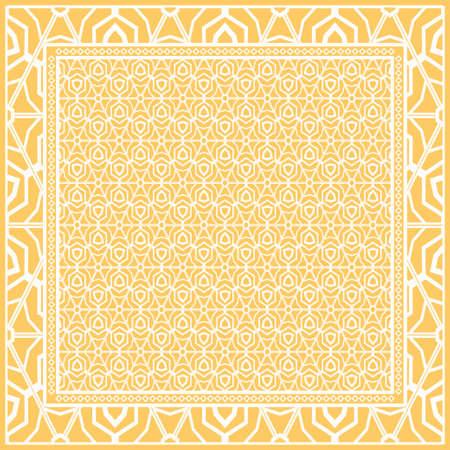 Design de mode Imprimé avec motif floral géométrique. Illustration vectorielle.
