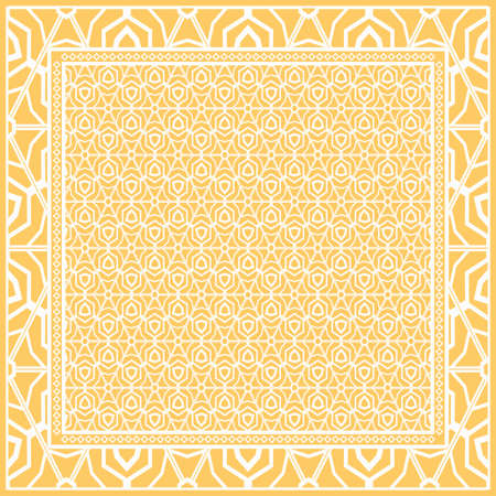Fashion design Print with geometric floral pattern. Vector illustration.
