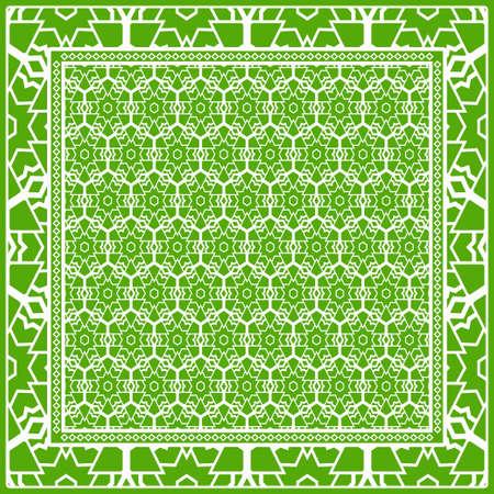 Design of a Geometric Flower Pattern. vector.