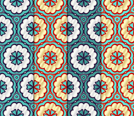 Set of Geometric seamless pattern. Decorative art deco style. Vector illustration line texture for wallpaper, packaging, banners, textile fashion fabric print, invitation cards.