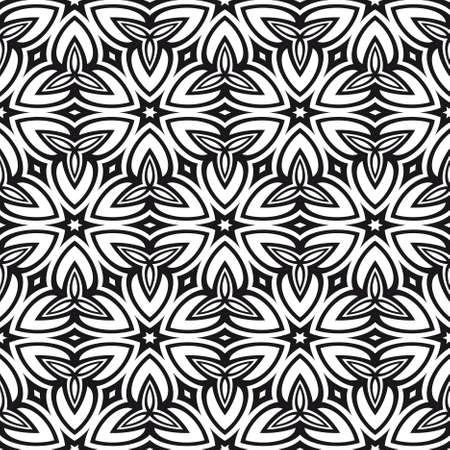 Abstract vector seamless pattern with abstract floral and leave style. Repeating sample figure and line. For modern interiors design, wallpaper, textile industry