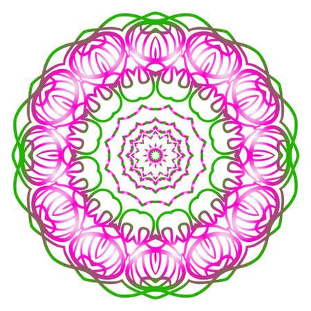 Vector Floral mandala. Vintage decorative elements. Vector illustration.