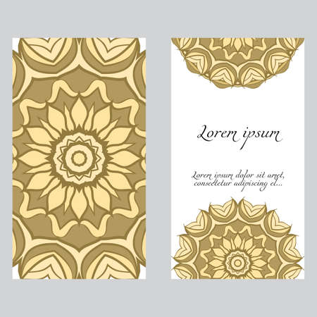 Vintage Invitation or wedding card. Vector illustatration. The front and rear side. Illustration