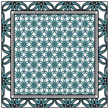 Floral Geometric Pattern. Vector illustration. design for wallpaper, flyer, book, brochure