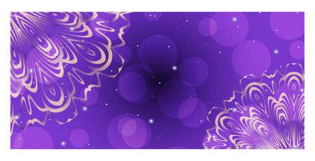 Ontwerpsjabloon uitnodigingen, folders voor een yogastudio met bloemenmandala-patroon. Vector