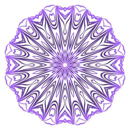 Hand-Drawn Henna Ethnic Mandala. Circle lace ornament. Vector illustration. for coloring book, greeting card, invitation, tattoo. Anti-stress therapy pattern. Çizim