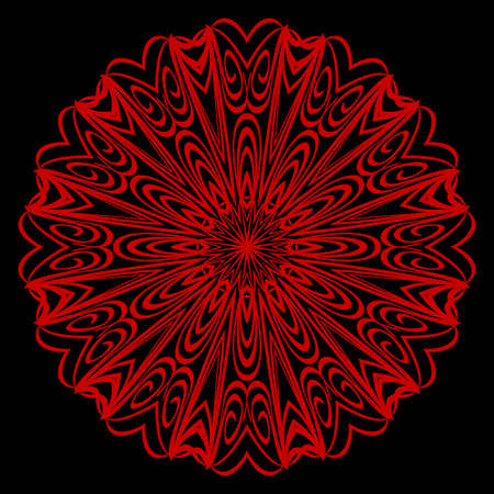 Modern Decorative floral color mandala. Super vector round Shapes. Vector illustration Illustration