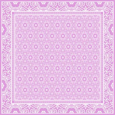 Design de mode Imprimé avec motif floral géométrique. Illustration vectorielle. Vecteurs