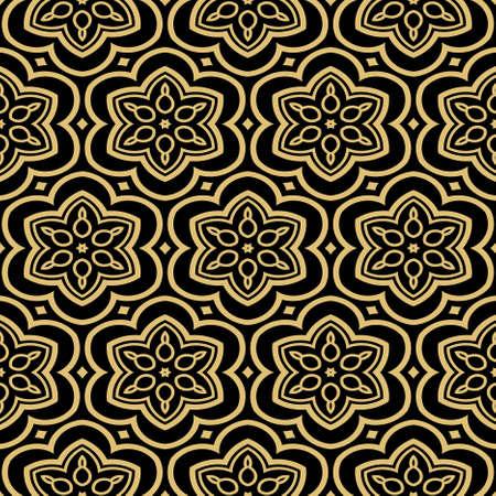 modern stylish geometry seamless pattern art deco background. Luxury texture for wallpaper, invitation. Vector illustration