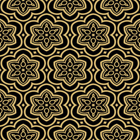 modern stylish geometry seamless pattern art deco background. Luxury texture for wallpaper, invitation. Vector illustration