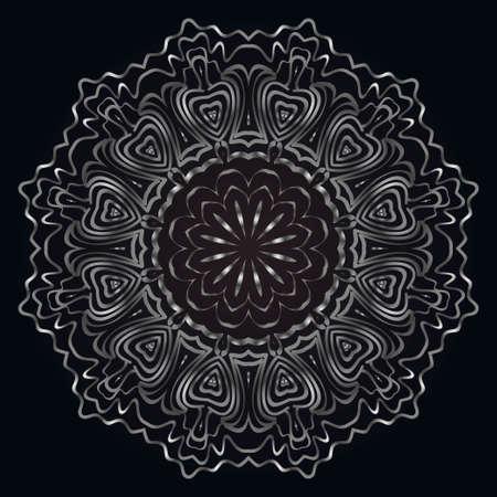 現代装飾シクル形状。花のマンダラ。ベクトルの図。