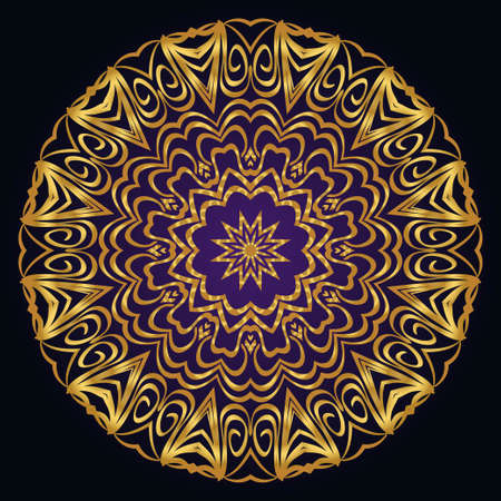 Modern floral vector ornaments. Decorative flower mandala. vector illustration  イラスト・ベクター素材