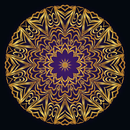 Mandala. for design, greeting card, invitation, coloring book. Arabic, Indian, motifs. Vector illustration