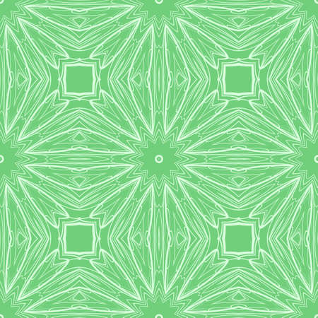 vector illustration. pattern with floral ornament, decorative border. design for print fabric, super fantastic bandana Illustration