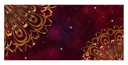 Flyer With Floral Mandala Ornaments. Vector Oriental design. Islam, Arabic, Indian, Ottoman Motifs