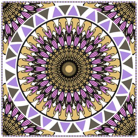 Ornamental ethnic pattern. For fashion design, shawl, textile, bandanna, print, invitation card. Vector illustration.
