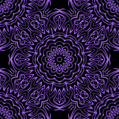 Unique, abstract floral color pattern. Seamless vector illustration. For fantastic design, wallpaper, background, fantastic print 向量圖像