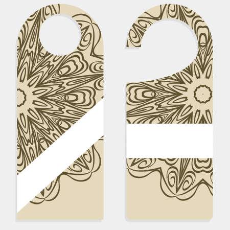 Accroche-porte avec un design spécial mandala. Illustration vectorielle. Pour hôtel, vente. Vecteurs