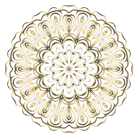 Ornamental circle pattern. Hand draw Mandala. Vintage decorative elements. vector illustration. Anti-stress therapy pattern