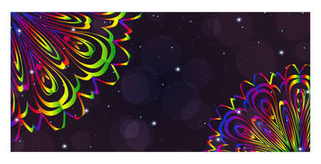 Beautiful Greeting Card for Festival Diwali. Background vector Ilustration. Festival Celebration in India.