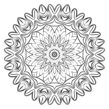 Modern floral vector ornaments. Decorative flower mandala. vector illustration Ilustracja